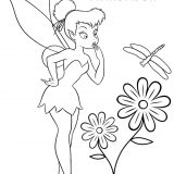 Tinkerbell-flower-coloring-pages