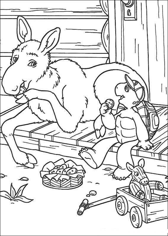 franklin coloring pages - kolorowanki franklin fd