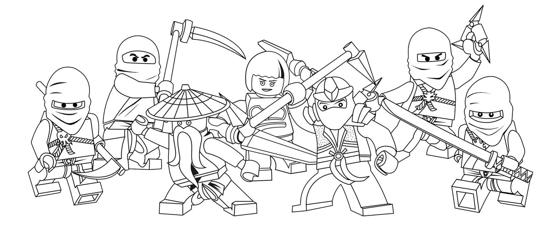 Lego Ninjago Kolorowanki Do Wydrukowania Fd