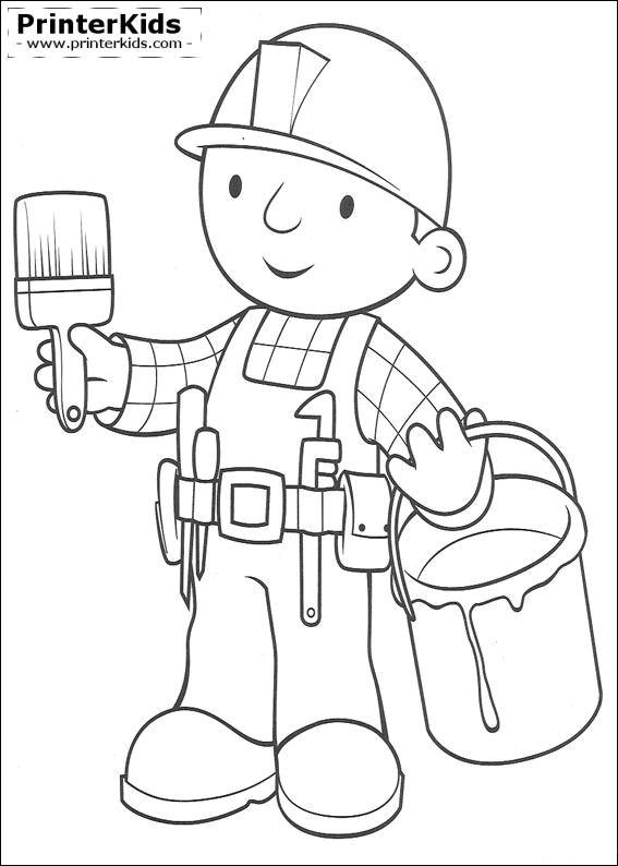 Bob Budowniczy Do Wydrukowania Kolorowanki 43 Fd