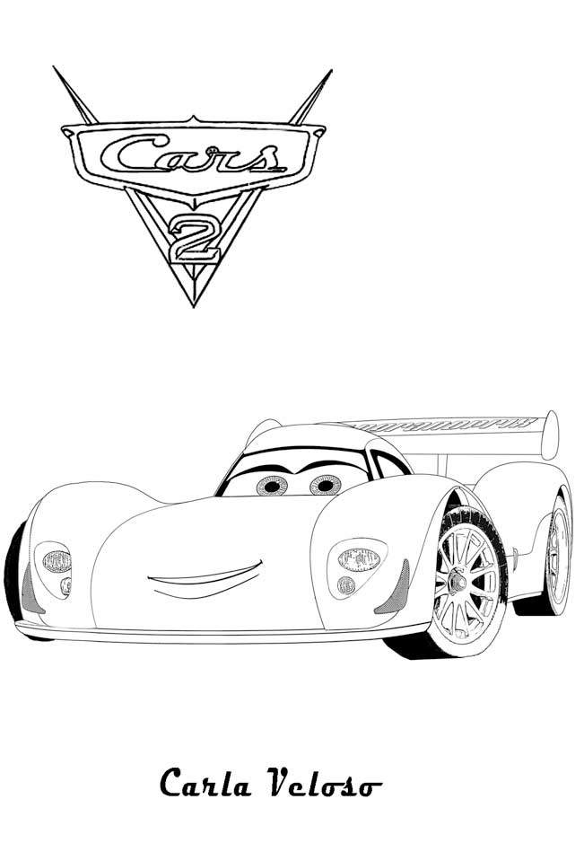 Carla Cars 2 Coloring Pages Fd