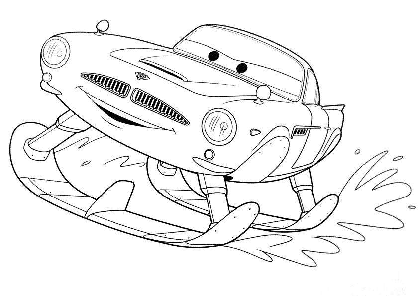 free coloring pages of finn mcmissile Disney Cars Coloring Pages  Coloring Pages For Cars 2
