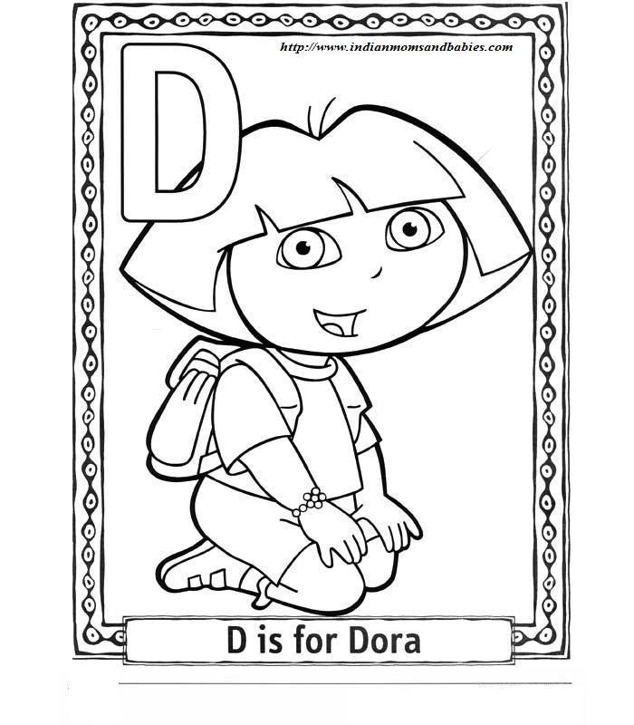 Dora Alfabet Kolorowanki Dla Dzieci Do Wydruku Fd