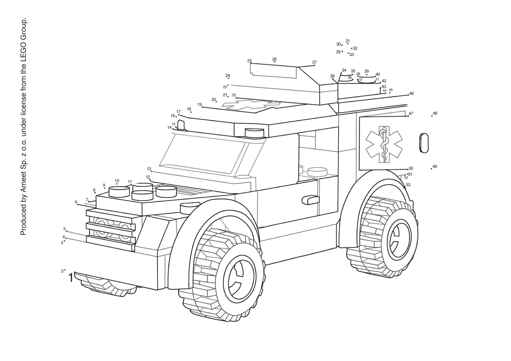 Free coloring pages of lego cars