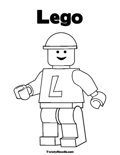 lego minifig coloring pages - photo#24