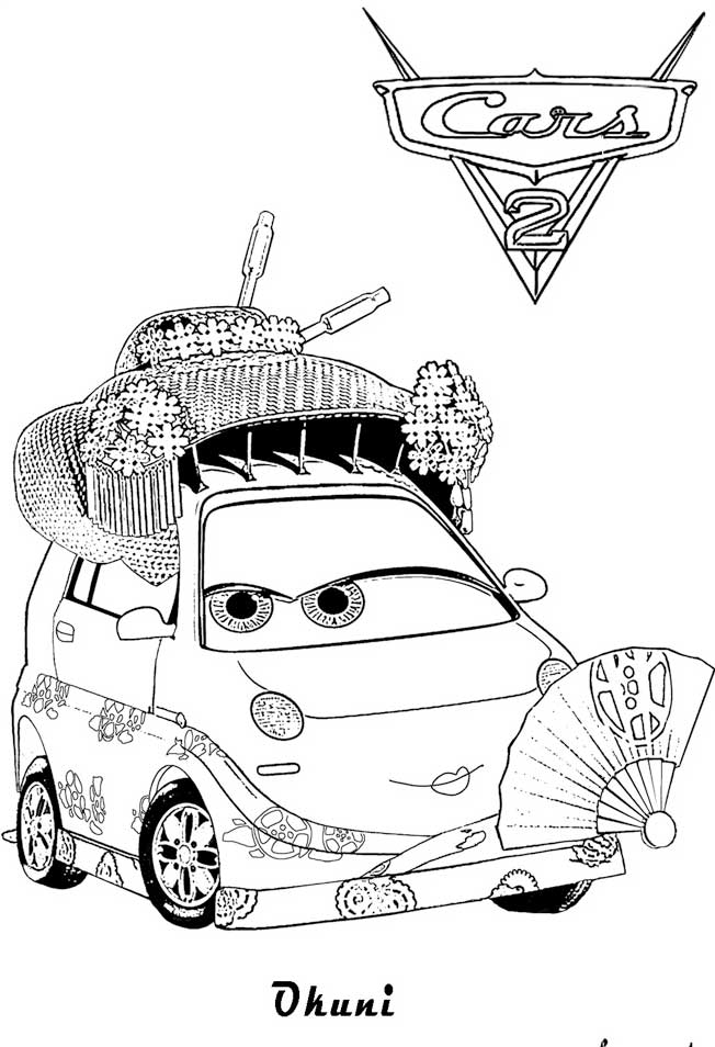 Coloring Pages Disney Cars 2 : Cars and coloring pages