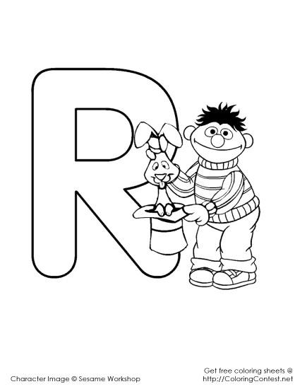 Sesame Street Alphabet Coloring Pages R 425x550 Fd Sesame Coloring Pages Alphabet