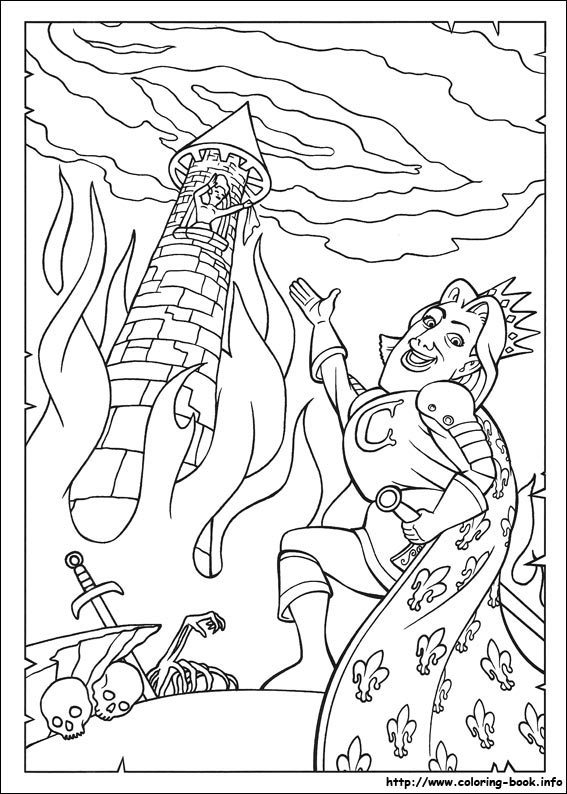 shrek dragon coloring pages - photo#20