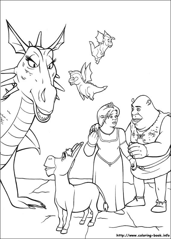 shreck coloring pages - photo#29