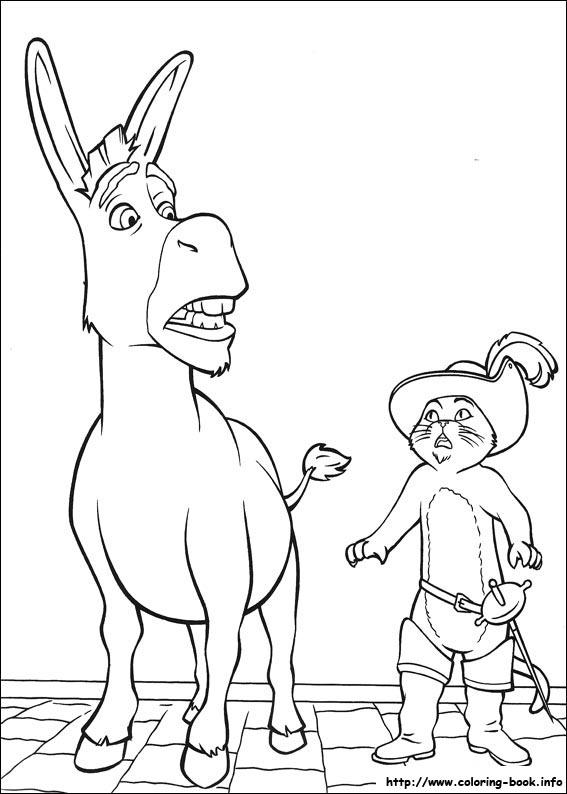 shrek dragon coloring pages - photo#18