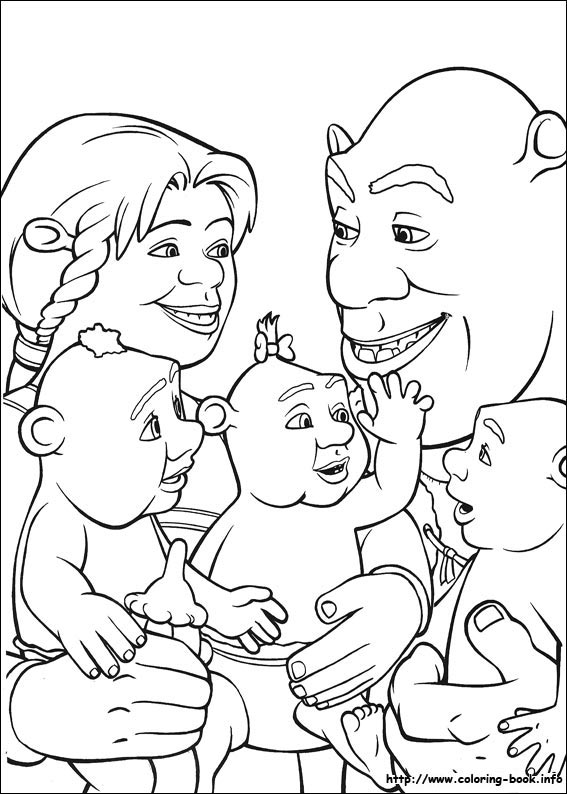 ogre baby shrek coloring pages - photo #10
