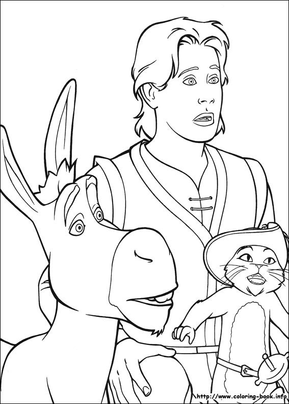 shrek dragon coloring pages - photo#24