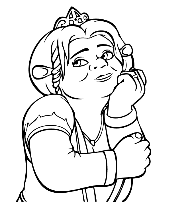 shreck coloring pages - photo#15