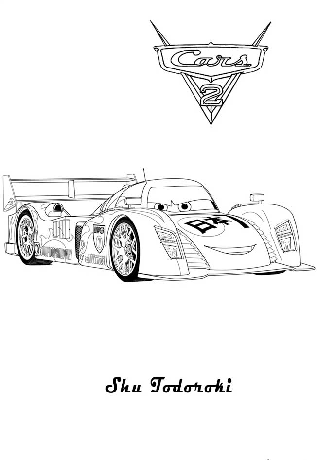 coloring pages cars 2 - photo #47