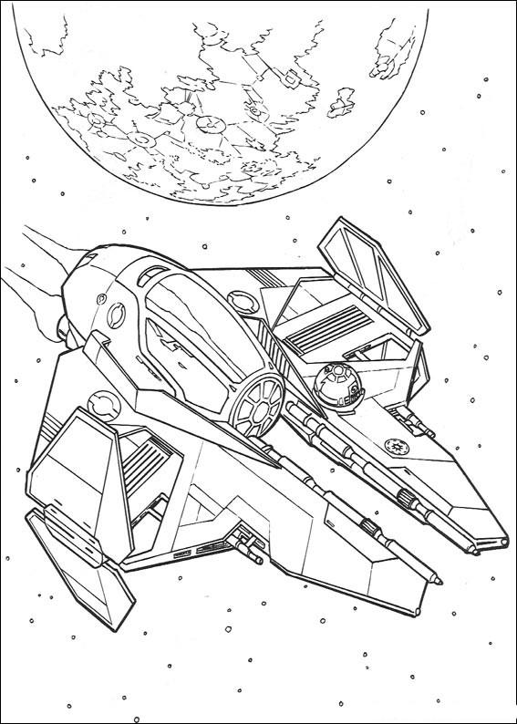 kolorowanki star wars, gwiezdne wojny - fd