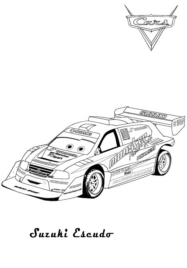 coloring pages of cars 2 - photo#28