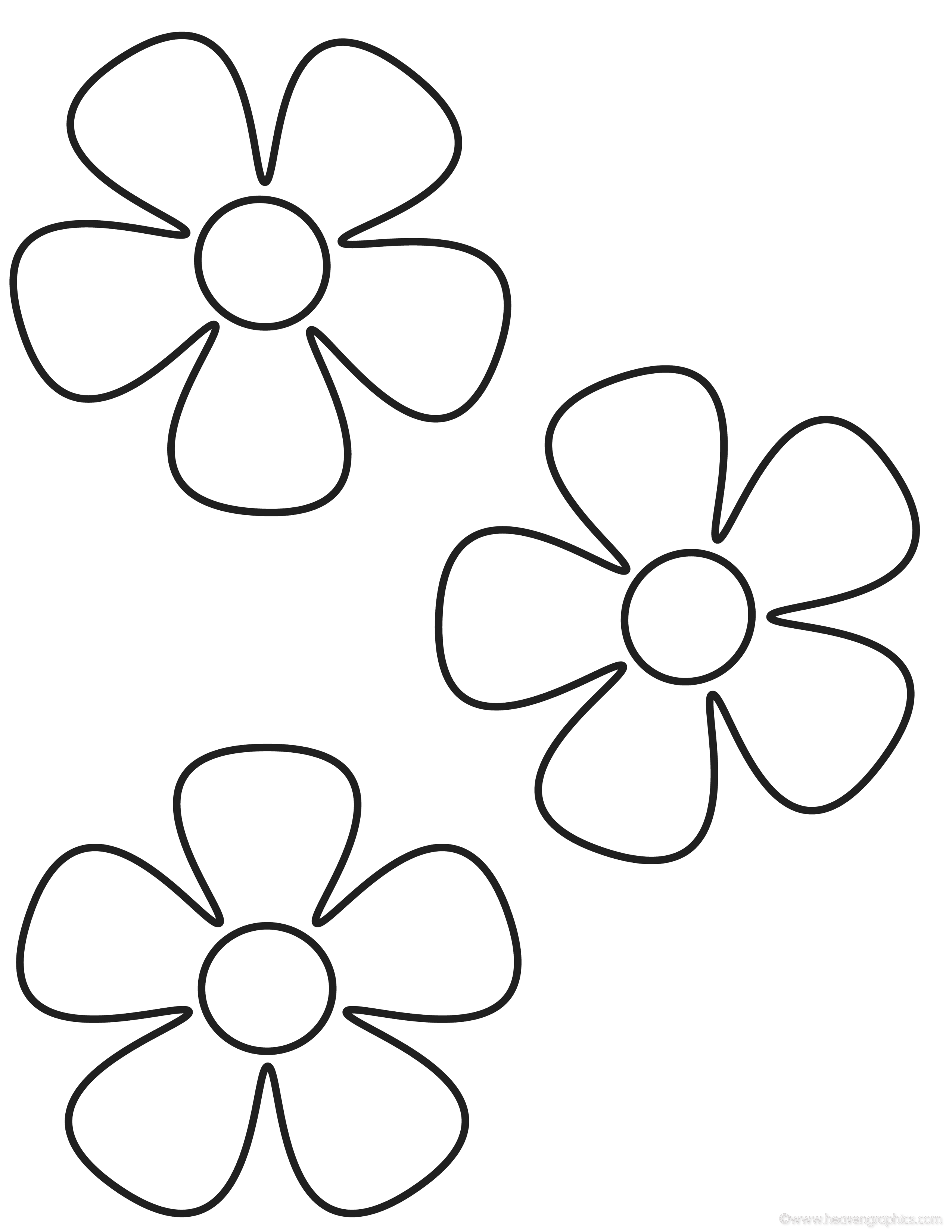 little flower coloring pages - photo#3