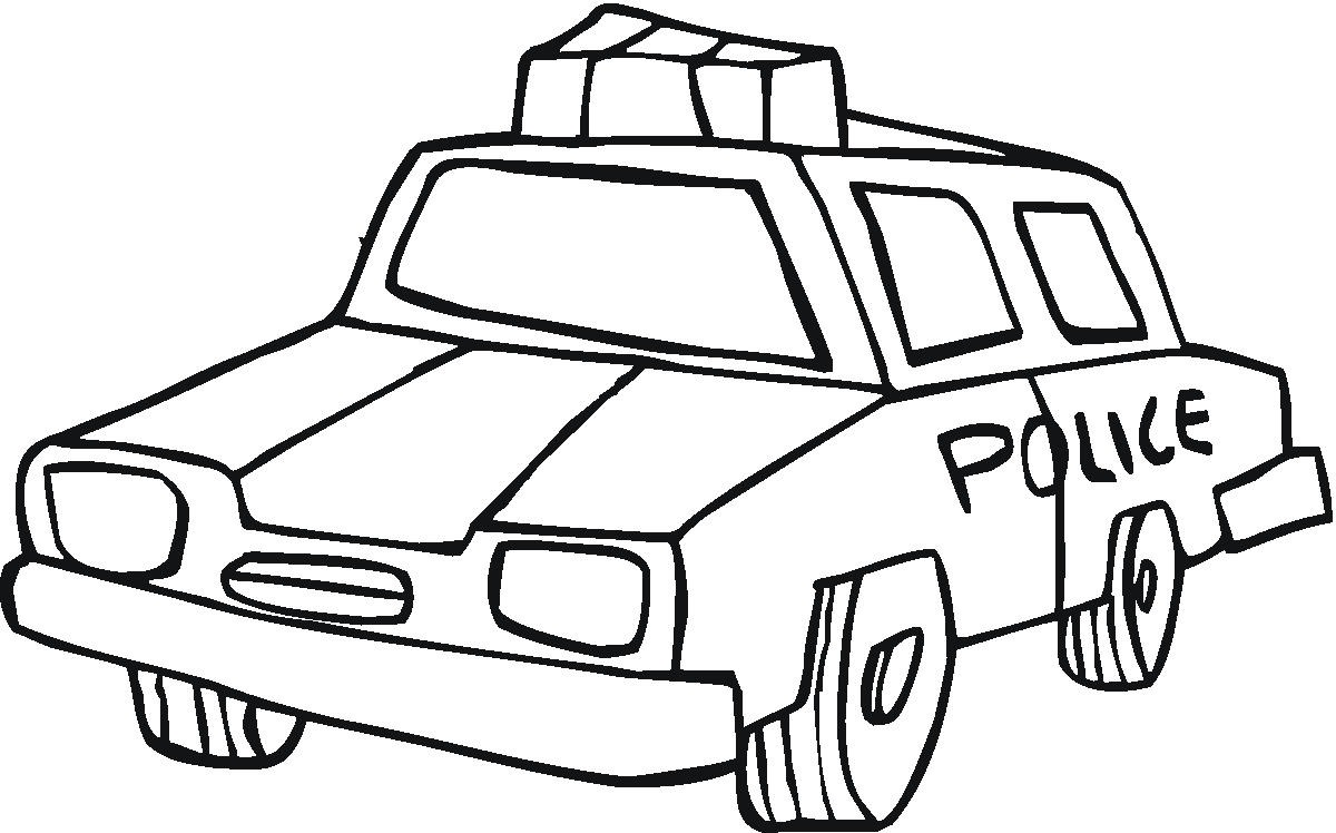 Old Police Car Coloring Page Fd