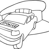 Police-car-in-the-station-coloring-page