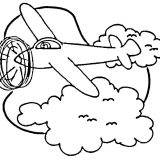 airplane-in-sky-coloring-page