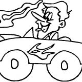driving-hot-rod-coloring-page