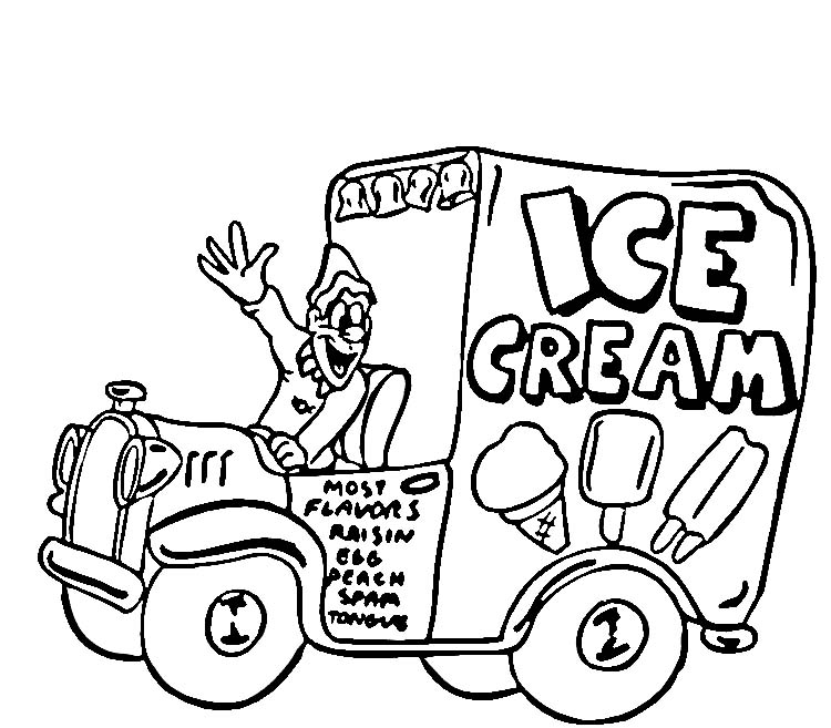 ice cream truck coloring page - photo #12
