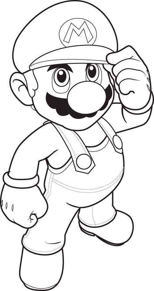 Do Mario Colouring Pages