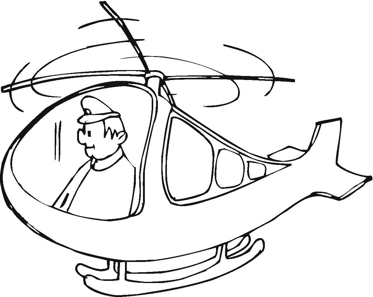 pilot coloring pages - photo#15
