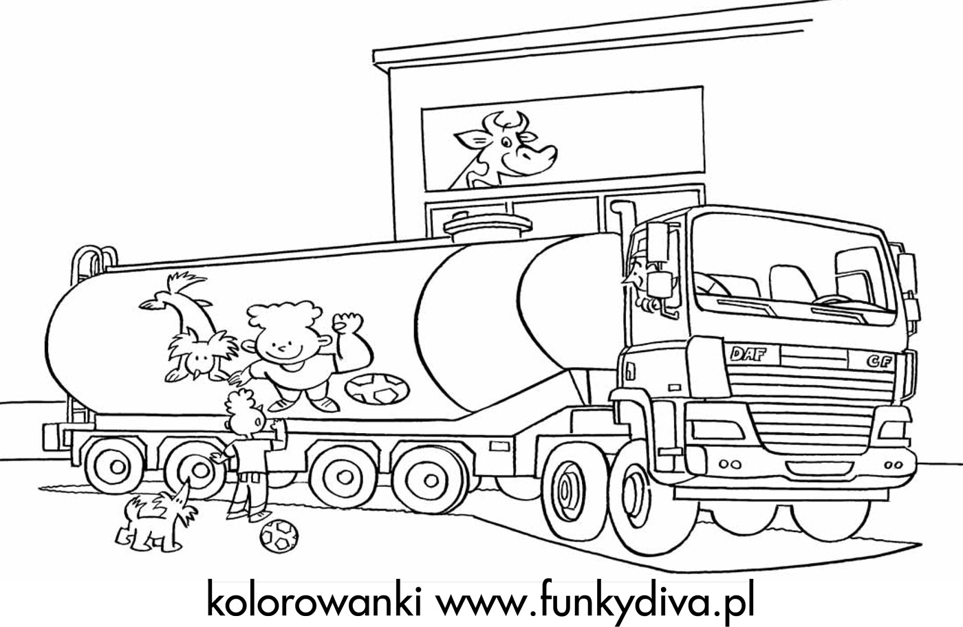 ka truck coloring pages