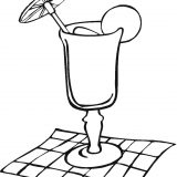 Cocktail-glass-on-the-napkin-coloring-page