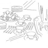 Dinner-table-coloring-page