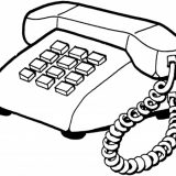 Home-telephone-coloring-page