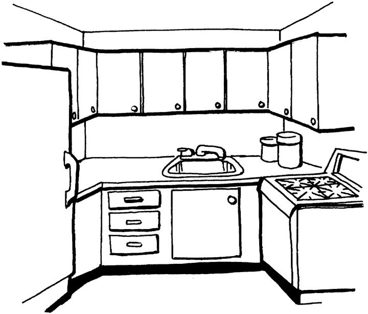 Kitchen Coloring Pages Page Fd