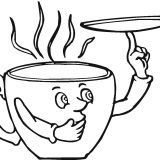Saucer-and-the-coffee-cup-coloring-page