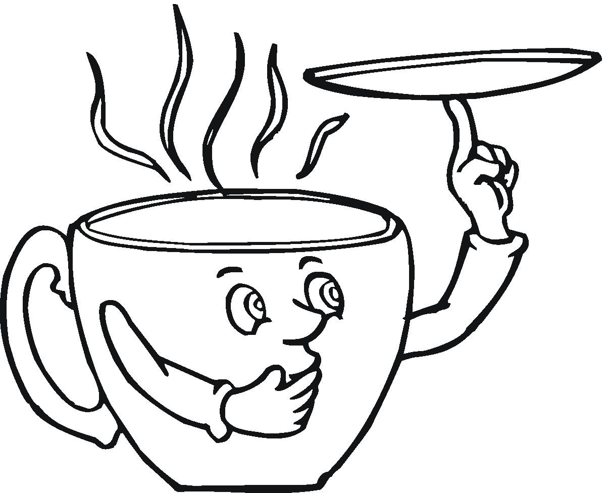 Cup and saucer coloring page coloring pages for Cup picture for colouring