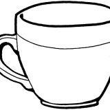 Teacup-coloring-page