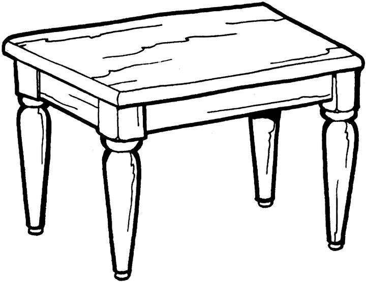 table top coloring pages - photo #1