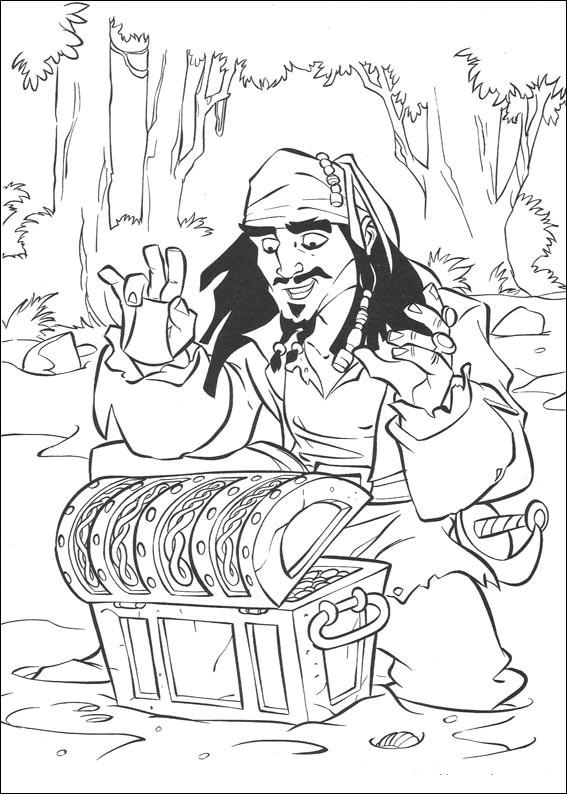 piraci z karaibow kolorowanki 8