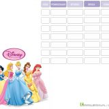 Disney Princess plan lekcji