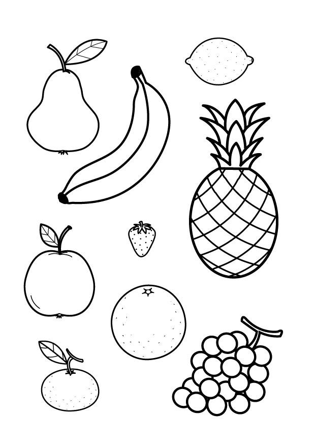 Раскраска фрукты - 6