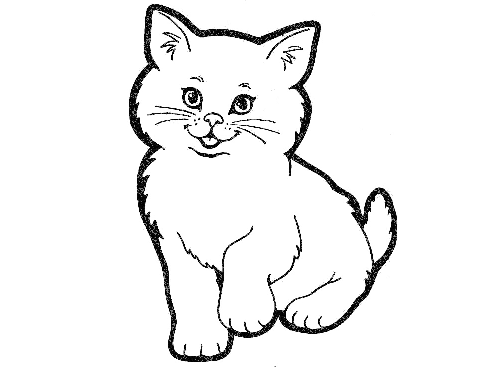 k is for kitten coloring pages - photo #19
