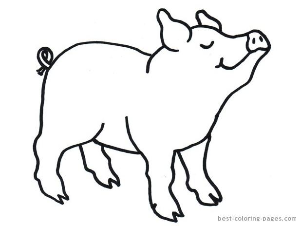 Printable pig stencil