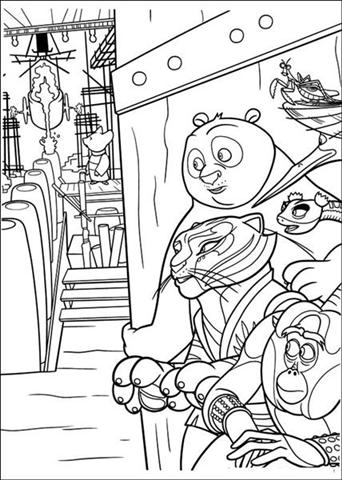 Kolorowanki kung fu panda fd for Kung fu panda 2 coloring pages