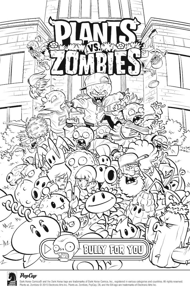 Rosliny Kontra Zombie Kolorowanki Do Wydrukowania Fd