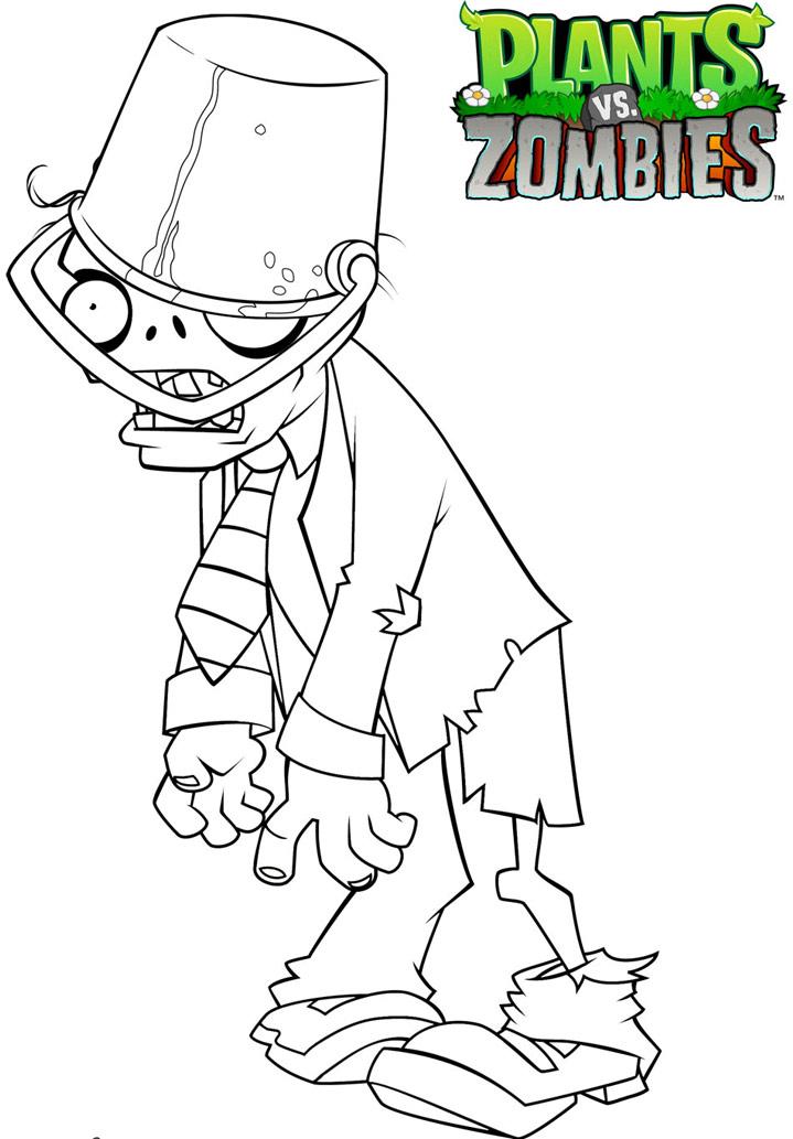 Раскраски для мальчиков зомби против растений распечатать - 2