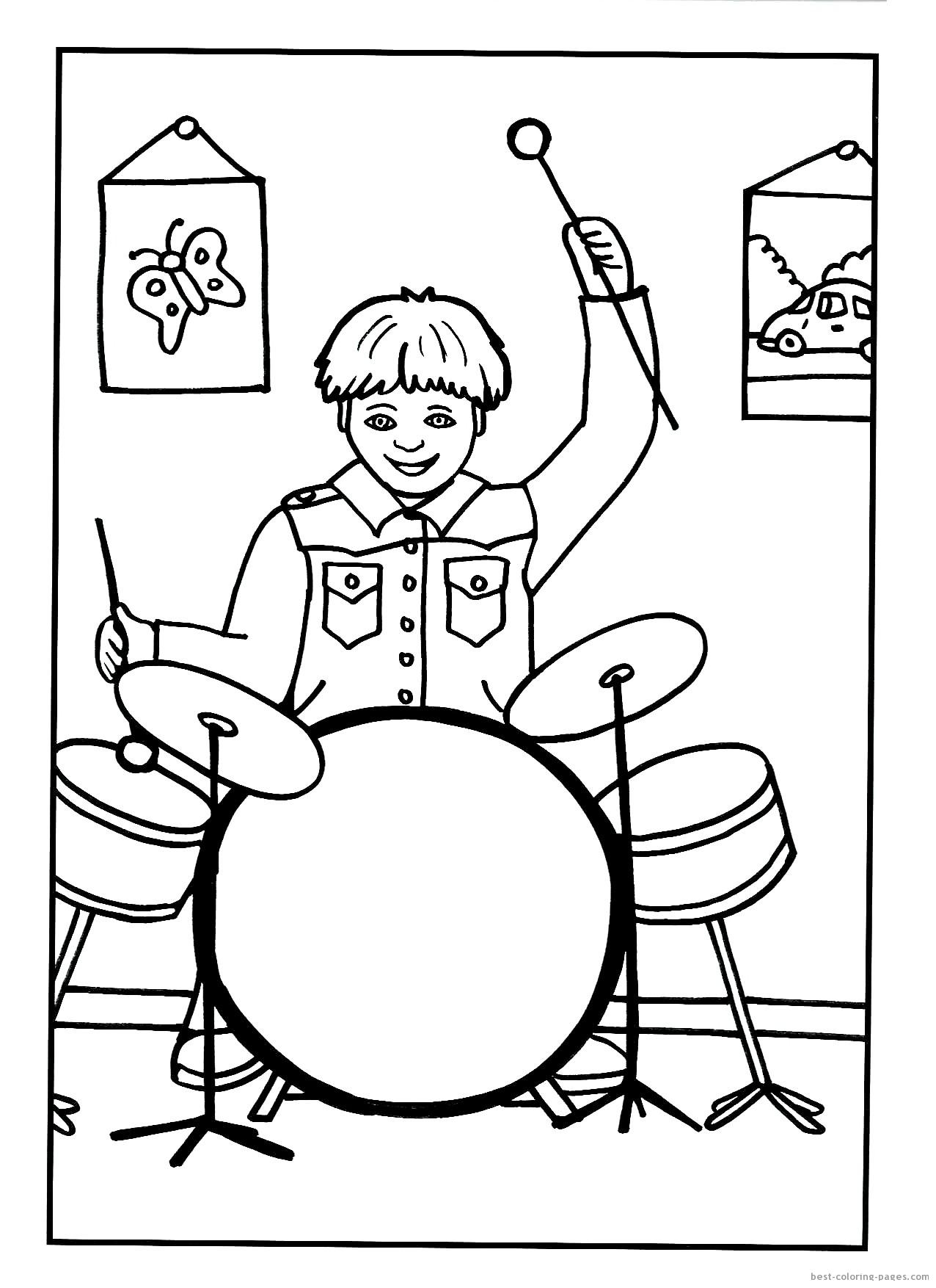 Instrumenty Muzyczne Kolorowanki Do Druku Fd