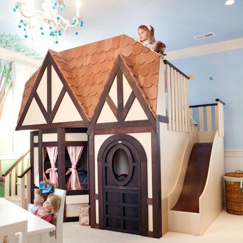 Łóżko jak domek dla lalek - FD