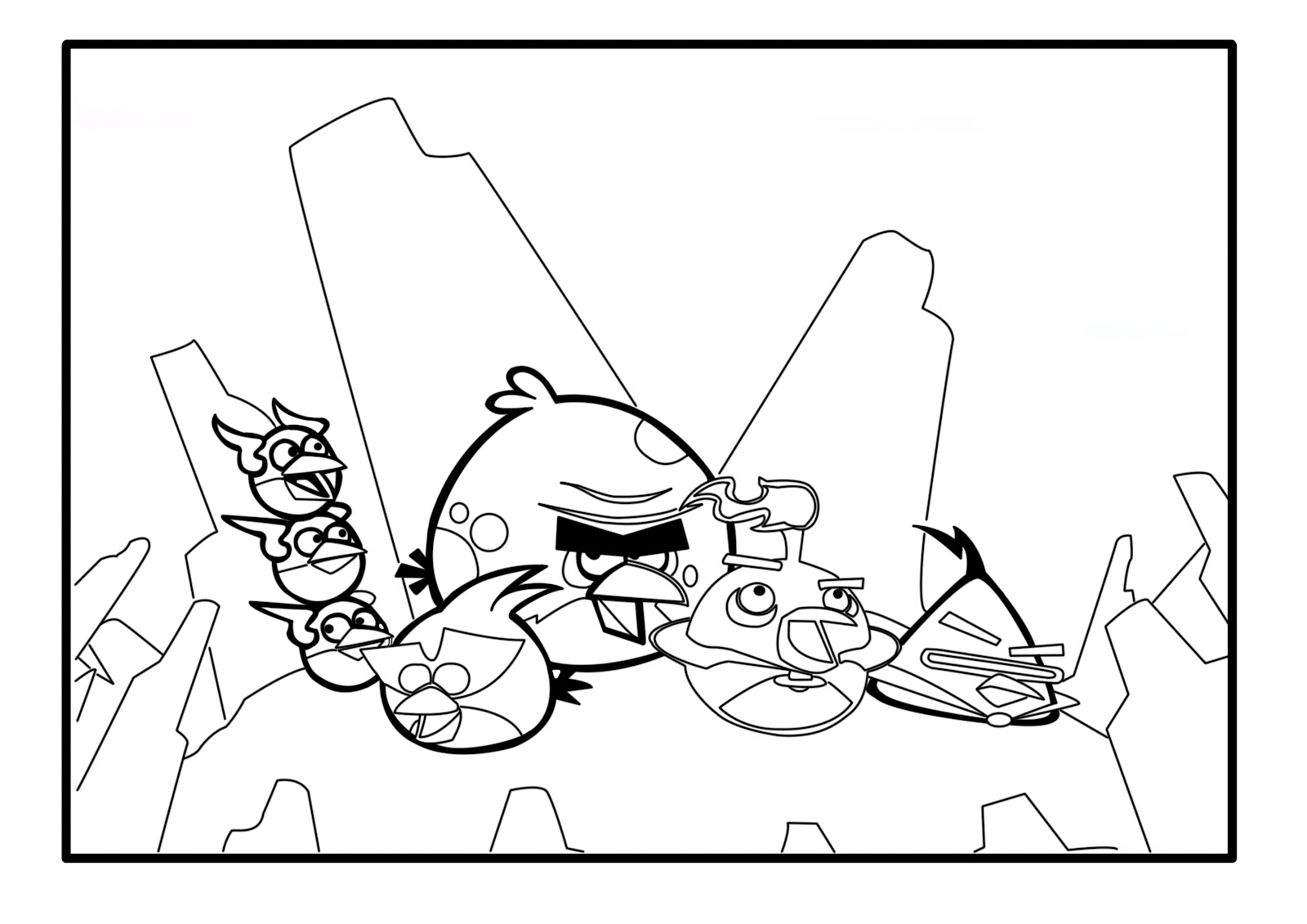 Free Coloring Pages Of Angry Birds Transformers