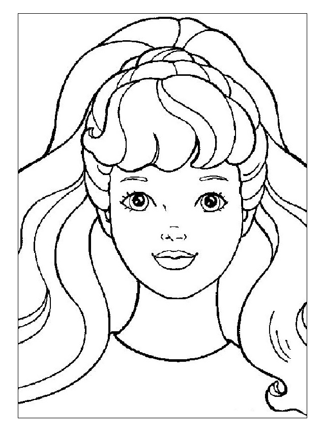 coloring pages of dolls faces - photo#15