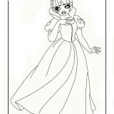 Draculaura as snow white
